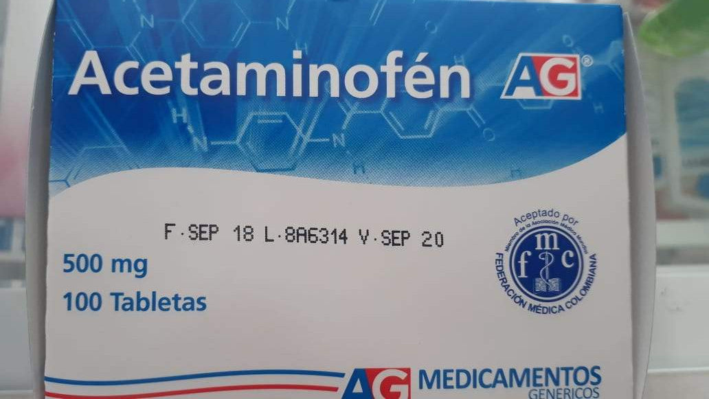 Acetaminofen 500mg 100 Tab