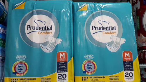 Pañales Adulto Prudiental confort talla M x20