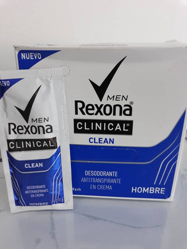 Desodorante Rexona clinical MEN - 20 unidades de 10g c/u