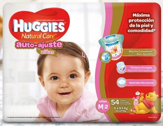 Pañales Huggies Natural Care M - Etapa 2 (Auto-Ajuste)
