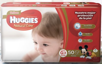 Pañales Huggies Natural Care G - Etapa 3