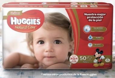 Pañales Huggies Natural Care XG - Etapa 4