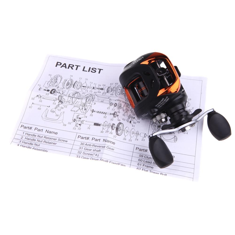 Lixada 10+1BB Left/Right Baitcasting Fishing Reel 6 3:1 Bait