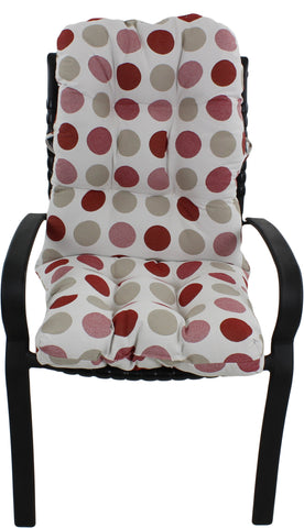 Garnet and Gray Big Dots Adirondack Cushion