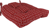 Garnet Harley Line Weave Indoor / Outdoor Seat Cushion Patio D Cushion