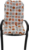 Tuscan Orange and Gray Big Dots Adirondack Cushion
