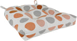 Tuscan Orange and Gray Big Dots Indoor / Outdoor Seat Cushion Patio D Cushion