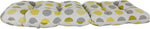 Citron Yellow and Gray Big Dots Adirondack Cushion