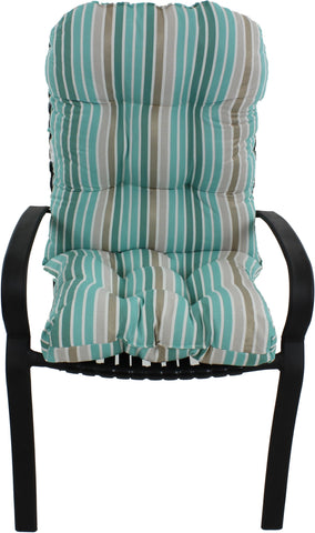 Lakeside Teal Parker Stripe Adirondack Cushion