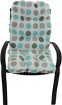 Lakeside Teal and Gray Big Dots Adirondack Cushion