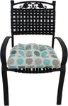 Lakeside Teal and Gray Big Dots Indoor / Outdoor Seat Cushion Patio D Cushion