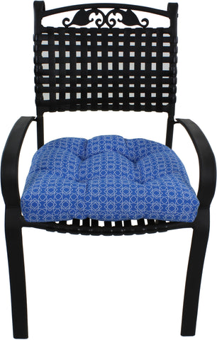 Azure Blue Harley Line Weave Indoor / Outdoor Seat Cushion Patio D Cushion