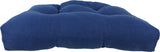 Midnight Blue Mainstreet Weave Indoor / Outdoor Seat Cushion Patio D Cushion