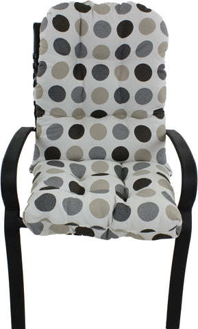 Charcoal and Gray Big Dots Adirondack Cushion