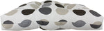 Charcoal and Gray Big Dots Indoor / Outdoor Seat Cushion Patio D Cushion