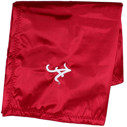 "Alabama Crimson Tide Silky and Super Soft Plush Baby Blanket, 28"" x 28"""