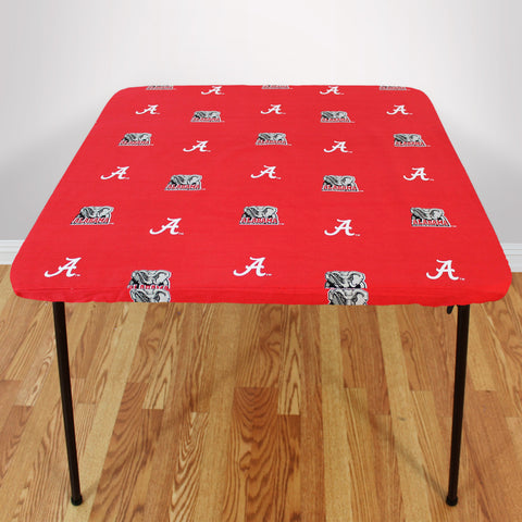 Alabama Crimson Tide Fitted Table Cover / Tablecloth:  3 Sizes Available