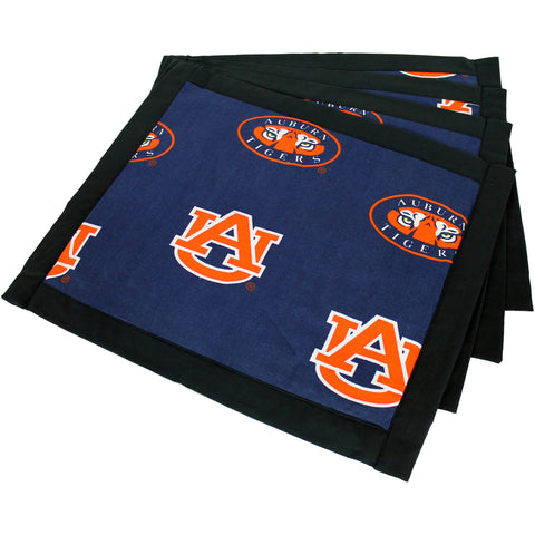 Auburn Tigers Placemat, Set of 4 Cotton and Reusable Placemats
