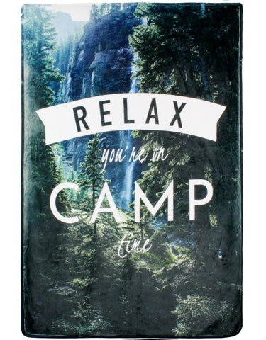 Camp Time Throw Blanket