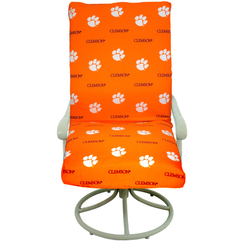 Clemson Tigers Two Piece Chair Cushion