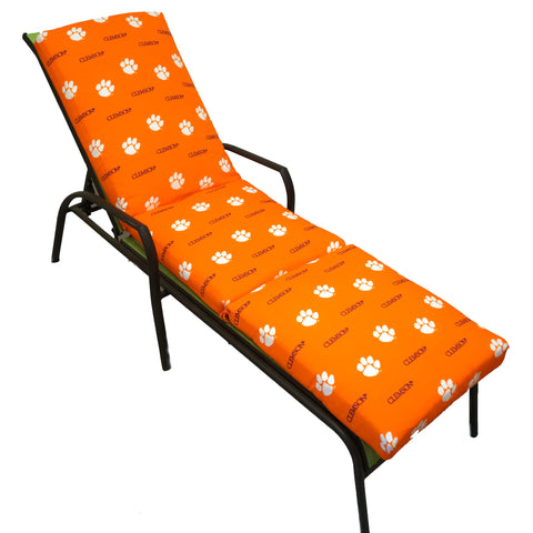 Clemson Tigers Three Piece Chaise Lounge Cushion