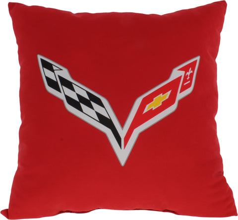 "Corvette 2 Sided Decorative Pillow, 16"" x 16"", Made in the USA"