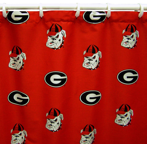 Georgia Bulldogs Shower Curtain Cover