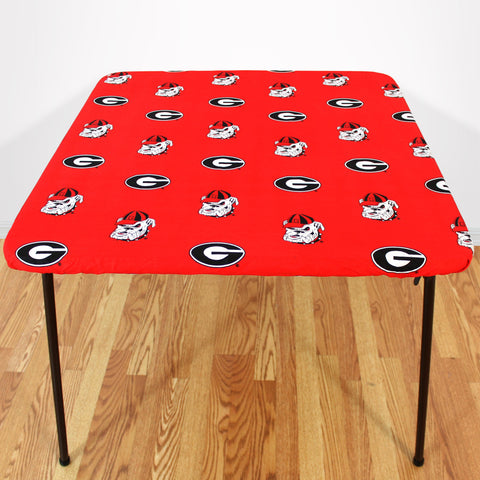 Georgia Bulldogs Fitted Table Cover / Tablecloth:  3 Sizes Available