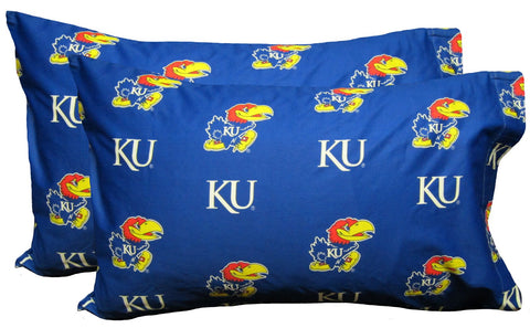 Kansas Jayhawks Pillowcase Pair