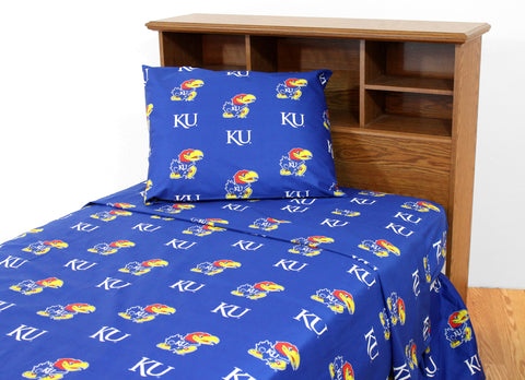 Kansas Jayhawks Sheet Set