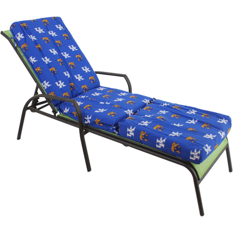 Kentucky Wildcats Three Piece Chaise Lounge Cushion