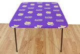 LSU Tigers Table Cover, Fitted Tablecloth