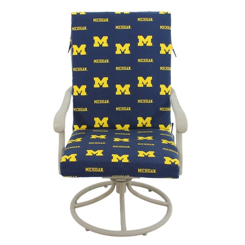 Michigan Wolverines Two Piece Chair Cushion