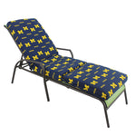 Michigan Wolverines Three Piece Chaise Lounge Cushion