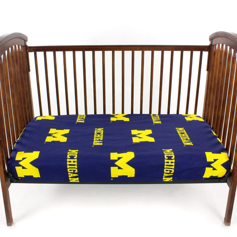 Michigan Wolverines Baby Crib Fitted Sheet
