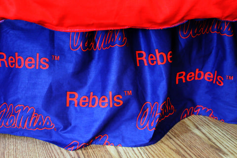 Ole Miss Rebels Dust Ruffle