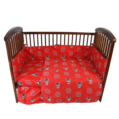 North Carolina State Wolfpack 5 piece Baby Crib Set