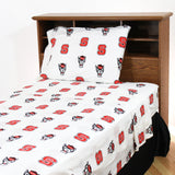 North Carolina State Wolfpack Sheet Set