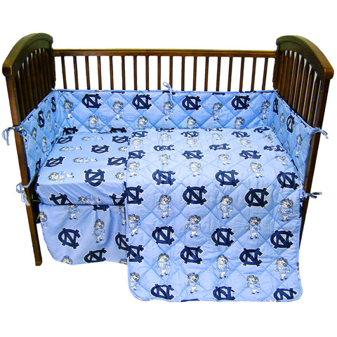North Carolina Tar Heels 5 piece Baby Crib Set