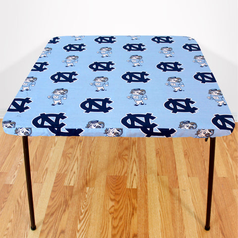 North Carolina Tar Heels Fitted Table Cover / Tablecloth:  3 Sizes Available