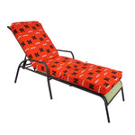 Nebraska Huskers Three Piece Chaise Lounge Cushion