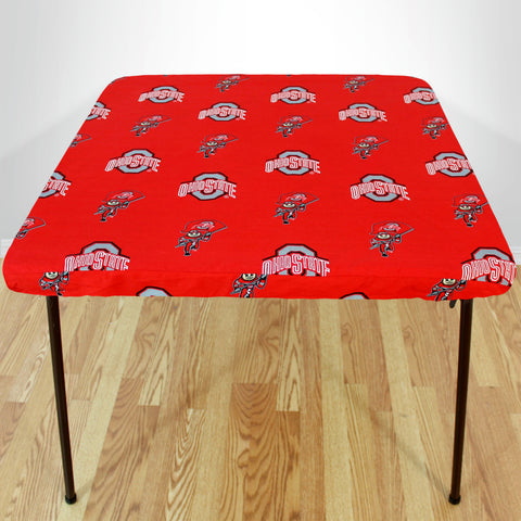 Ohio State Buckeyes Fitted Table Cover / Tablecloth:  3 Sizes Available