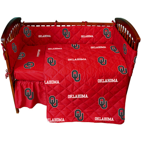 Oklahoma Sooners 5 piece Baby Crib Set