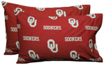 Oklahoma Sooners Pillowcase Pair