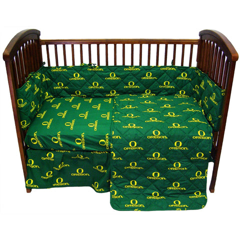 Oregon Ducks 5 piece Baby Crib Set