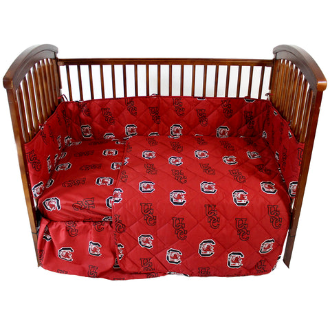 South Carolina Gamecocks 5 piece Baby Crib Set