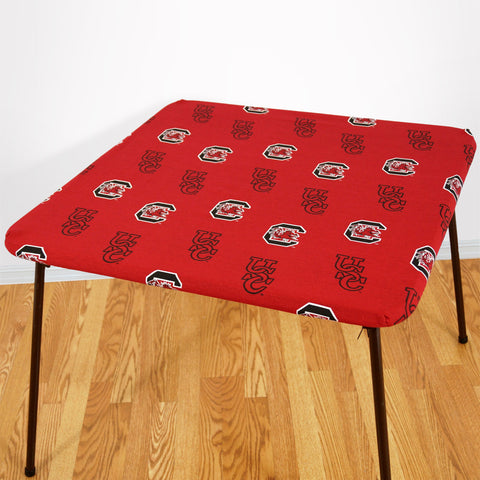 South Carolina Gamecocks Fitted Table Cover / Tablecloth:  3 Sizes Available
