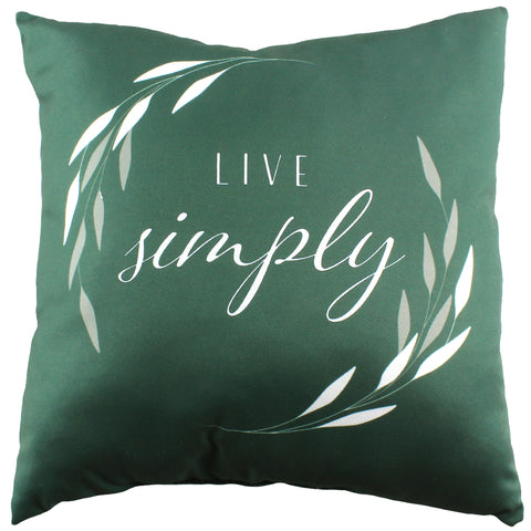 Live Simply Reversible Pillow - More Colors Available