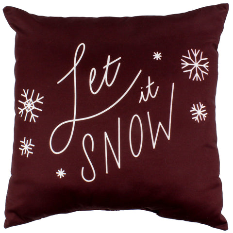 Let It Snow Reversible Pillow - More Colors Available