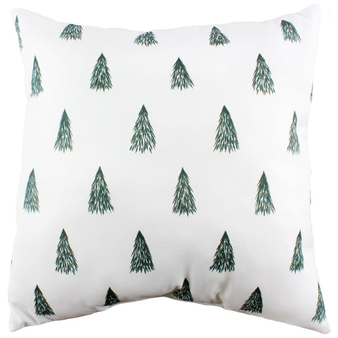 Pine Trees Patterned Double Sided Pillow